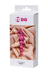Анальний ланцюжок ToDo By Toyfa Sweety, силікон, рожева, 18,5 см, ø 3,1 см