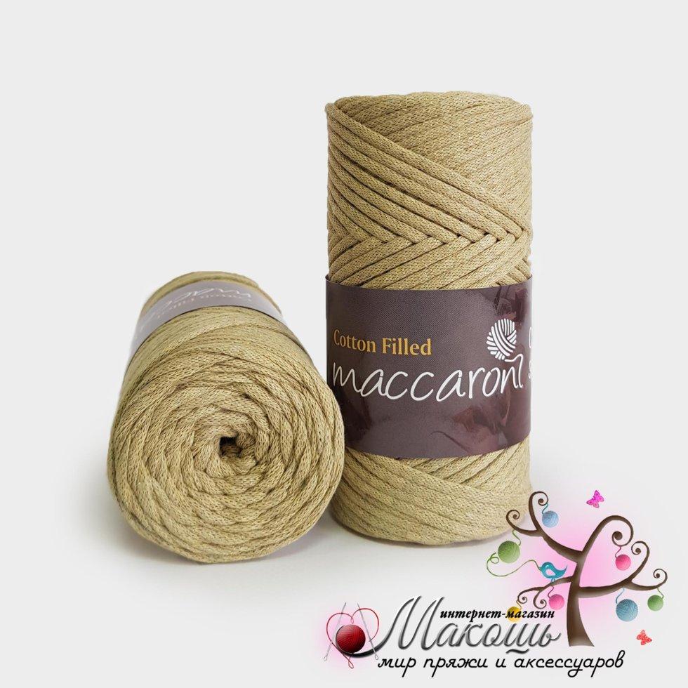 Бавовняний шнур Maccaroni Cotton Filled 3 мм, №634, оливка