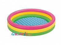 Детский бассейн с надувным дном диаметр 114 см 57412