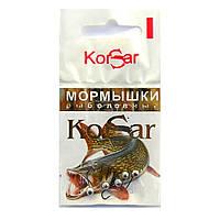 Мормышка KORSAR Дробинка малая (5 шт) крючок оксидированный темный