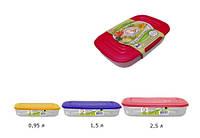 Контейнер для пищевых продуктов (прям.) набор 3 в 1, фото 1
