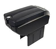 Подлокотник Универсальный Vitol / пепельница / подстаканник / 7 USB / Черный