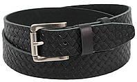 Ремень мужской из кожи под джинсы Skipper 4 см Черный 1307-40 SK, КОД: 1636662