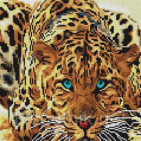 Алмазная вышивка «Леопард» (Код:088-ST-S)