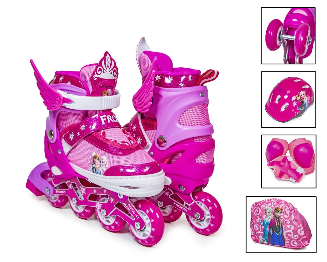"Комплект роликів ""Frozen"". Pink (розмір 34-37) 2029793098"
