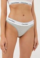 Женские стринги Calvin Klein Steel Набор 5 штук хлопок в подарочной упаковке Келвин Кляйн трусики для девушек