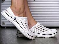 Жіночі Білі Крокси Шльопанці Сабо гумові, фото 1