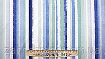 Мягкая ткань американский креп в разноцветную полоску