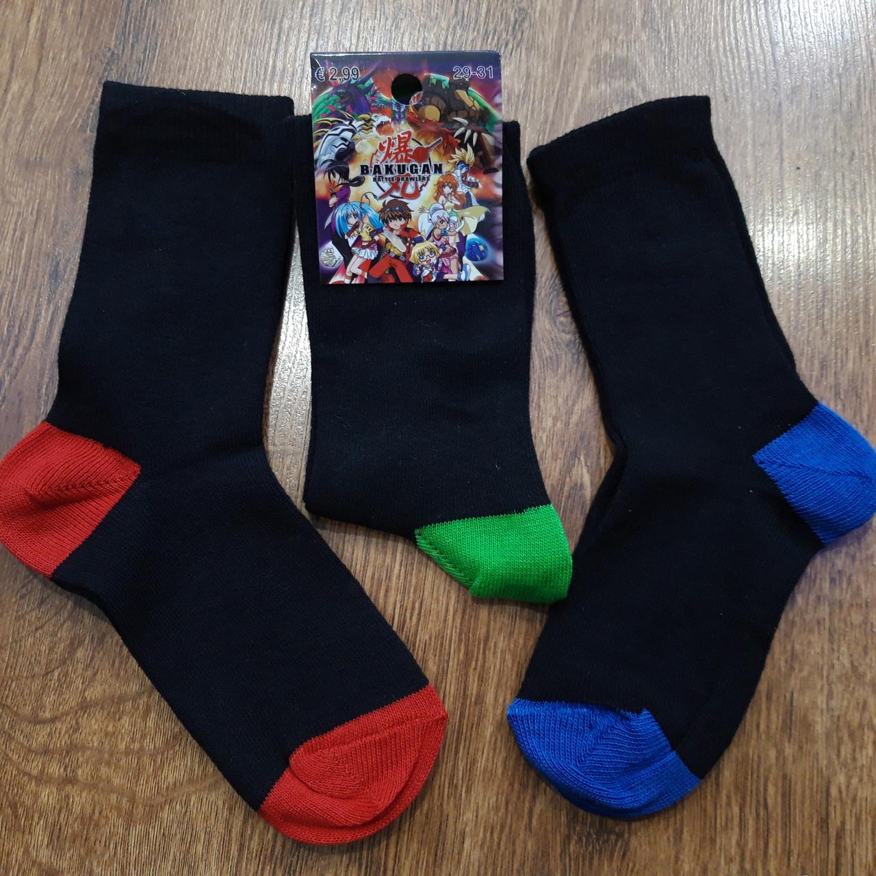 """Шкарпетки дитячі стрейчеві""""BAKUGAN"""" 29-31(7-8 років)"""