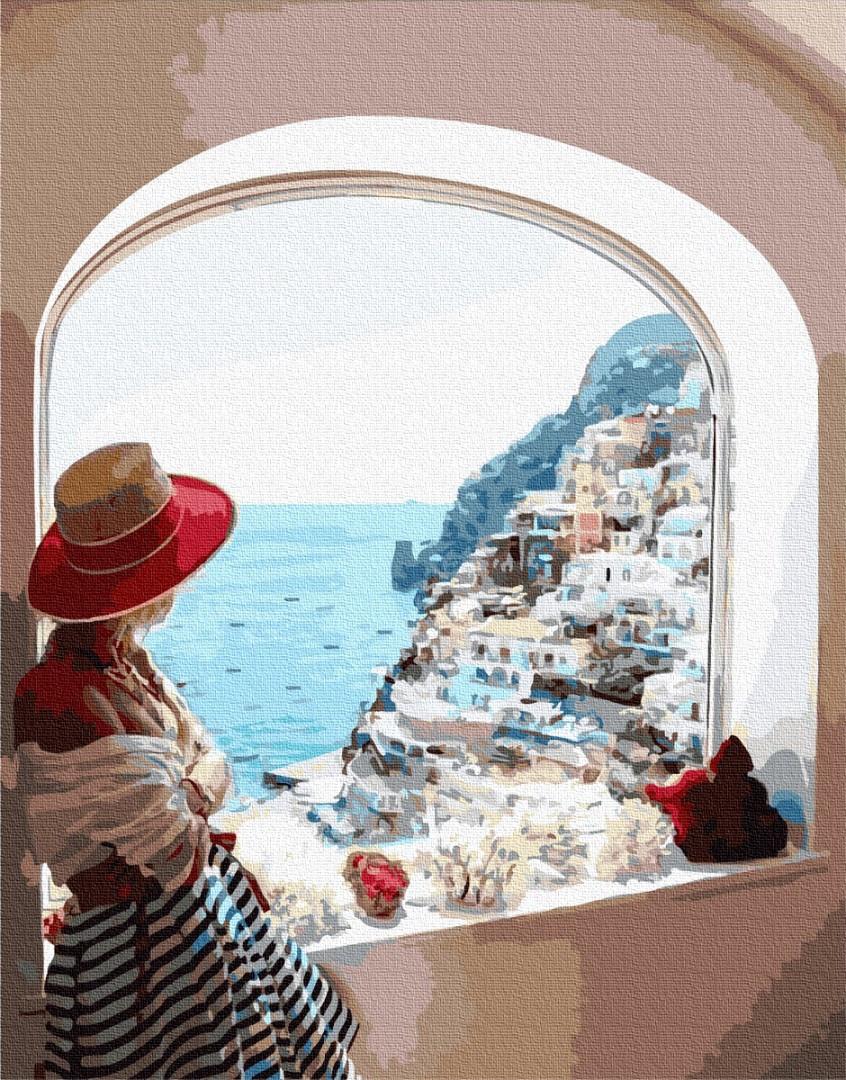BK-GX31722 Набір для малювання картини за номерами Вид на Сицилію, Без коробки