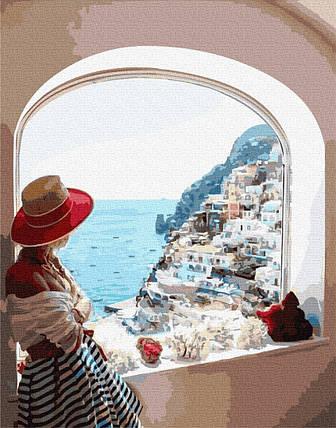 BK-GX31722 Набір для малювання картини за номерами Вид на Сицилію, Без коробки, фото 2