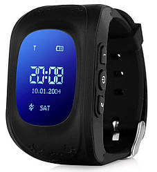 Детские смарт-часы с GPS Smart Watch Q50-SV Черные smartq50black ES, КОД: 148532