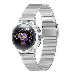 Умные часы Linwear LW10 Metal с пульсометром и мониторингом сна Серебристый ES, КОД: 2404040