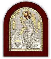 Икона Святой Иоанн Предтеча Серебряная с позолотой Silver Axion (Греция)  55 х 70 мм