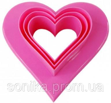 Двусторонні форми для печива Сердечки 6 розмірів (0127)