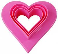 Двусторонні форми для печива Сердечки 6 розмірів (0127), фото 1