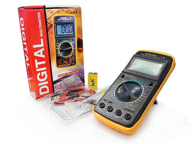 Тестер электросети 1 сорт DT9208A 60шт 8840