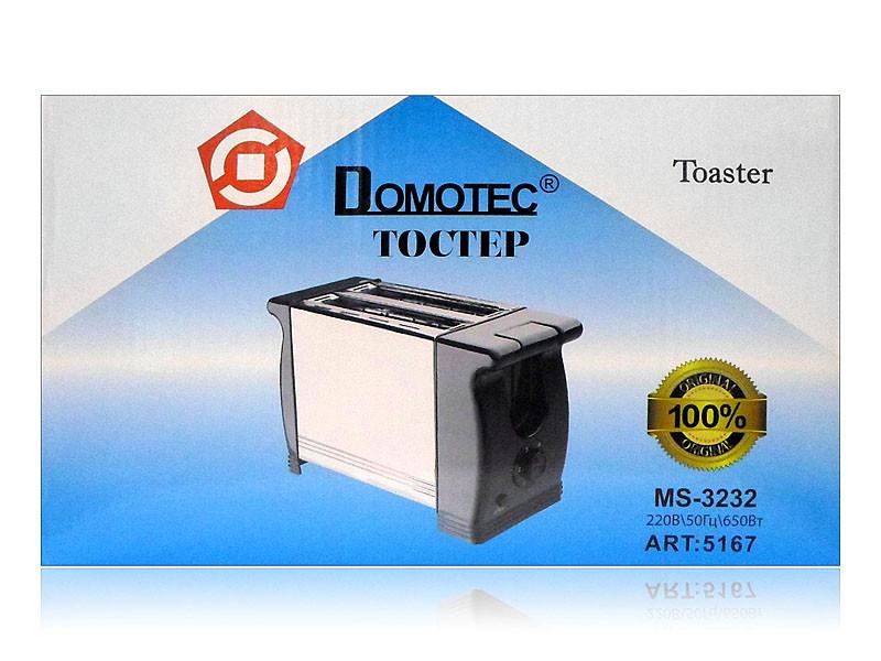 Тостер Domotec 650Вт 6 режимів MS-3232