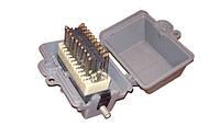 УКС-10х2 — Устройство кабельное соединительное с 10-парным керамическим плинтом с защитой, силуминовый корпус