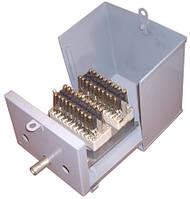 УКС-20х2 — Устройство кабельное соединительное с 2-мя 10-парными керамическими плинтами, стальной корпус