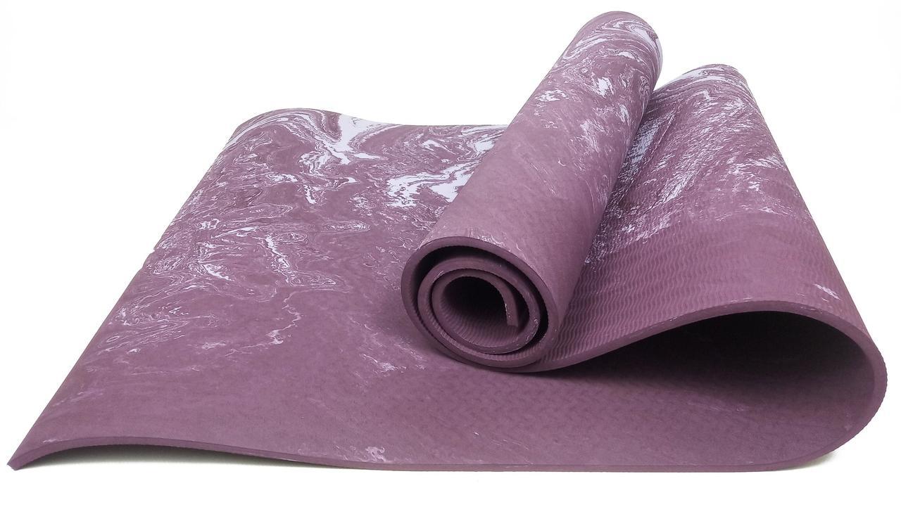 Килимок для йоги та фітнесу EasyFit PER Premium Mat 8 мм