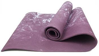 Коврик для йоги и фитнеса EasyFit PER Premium Mat 8 мм