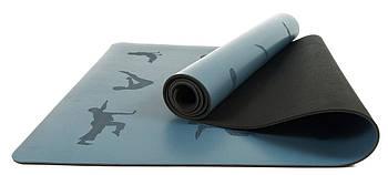 Коврик для йоги профессиональный EasyFit каучук 5 мм