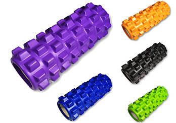 Масажний ролик EasyFit Grid PRO Roller 33 см