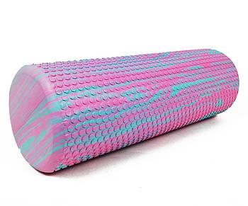 Масажний ролик EasyFit Foam Roller 45 см двоколірний