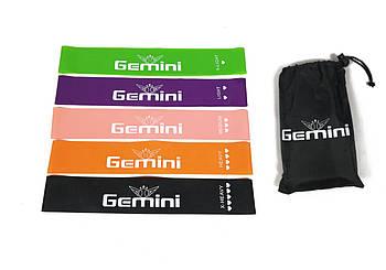 Резинки для фитнеса Gemini набор 5 шт