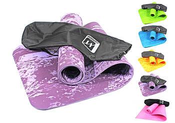 Коврик для йоги и фитнеса EasyFit PER Premium Mat 8 мм + Чехол