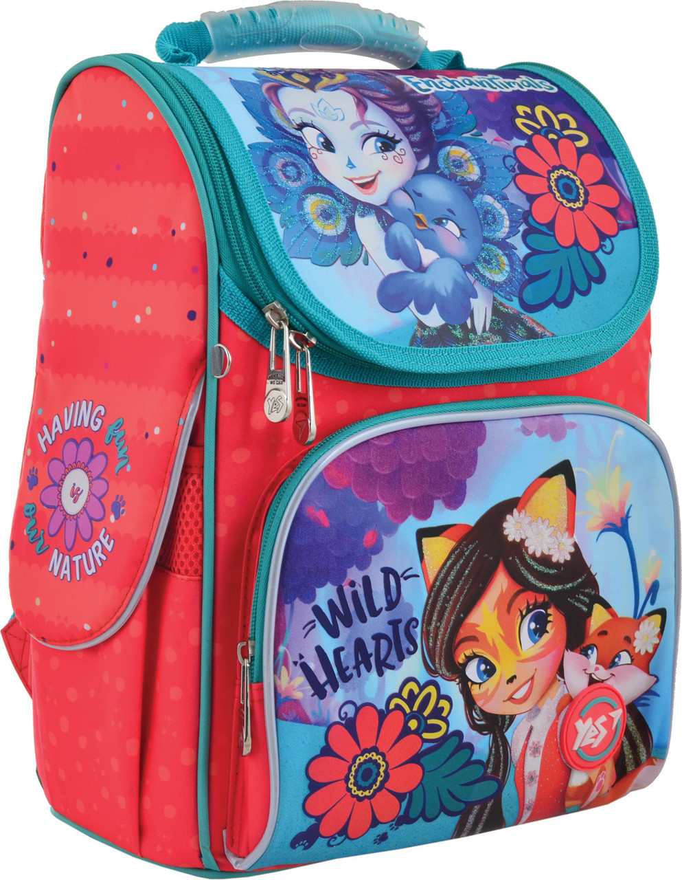Рюкзак шкільний каркасний YES H-11 Enchantimals Помаранчевий (556134)