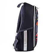Рюкзак шкільний каркасний 1Вересня H-27 Racing Чорний (557712), фото 2