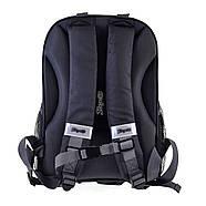Рюкзак шкільний каркасний 1Вересня H-27 Racing Чорний (557712), фото 3