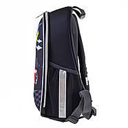 Рюкзак шкільний каркасний 1Вересня H-27 Racing Чорний (557712), фото 4
