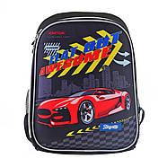 Рюкзак шкільний каркасний 1Вересня H-27 Racing Чорний (557712), фото 5