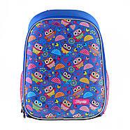 Рюкзак шкільний каркасний 1Вересня H-27 Owl party Синій (557710), фото 2
