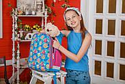 Рюкзак шкільний каркасний 1Вересня H-27 Owl party Синій (557710), фото 6