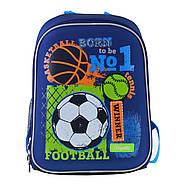 Рюкзак шкільний каркасний 1ВересняН-27 Football winner Синій (557713), фото 3