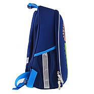 Рюкзак шкільний каркасний 1ВересняН-27 Football winner Синій (557713), фото 5