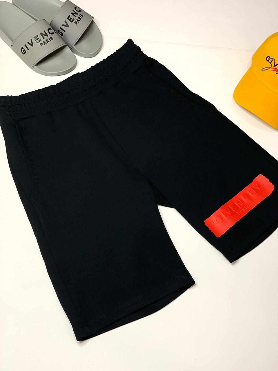 Шорти G!VENCHY тканинні чоловічі чорні брендові преміум копія репліка