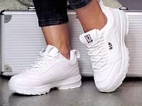 Жіночі Білі Кросівки зі шнурівкою Vip
