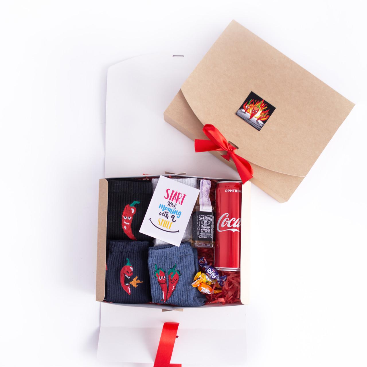 Подарочный набор мужской с носками Перцы