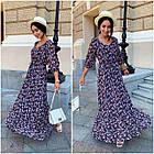 Платье летнее nobilitas 42 - 52 голубое шифон (арт. 21031), фото 2