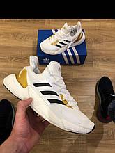 Мужские кроссовки Adidas сетка - белые