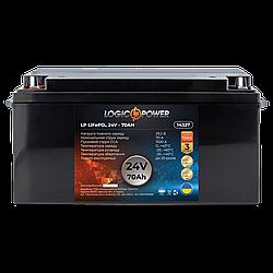 Аккумулятор для автомобиля литиевый LP LiFePO4 24V - 70 Ah (+ слева, прямая полярность) пластик