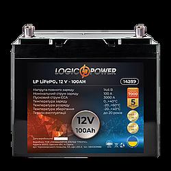 Аккумулятор для автомобиля литиевый LP LiFePO4 12V - 100 Ah (+ справа, обратная полярность) пластик