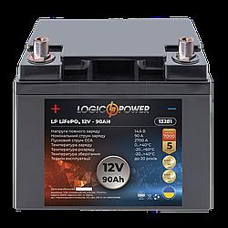 Аккумулятор для автомобиля литиевый LP LiFePO4 12V - 90 Ah (+ слева, прямая полярность) пластик