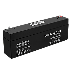 Акумулятор кислотний AGM LogicPower LPM 12 - 2,3 AH