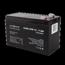 Акумулятор кислотний AGM LogicPower LPM 12 - 7,0 AH